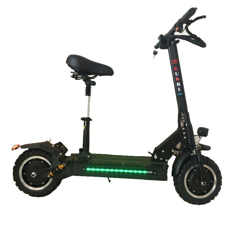 11 zoll elektrische roller 60 V doppel öl bremse hoverboard dual stick elektrische skateboard doppel stoßdämpfer highpower roller