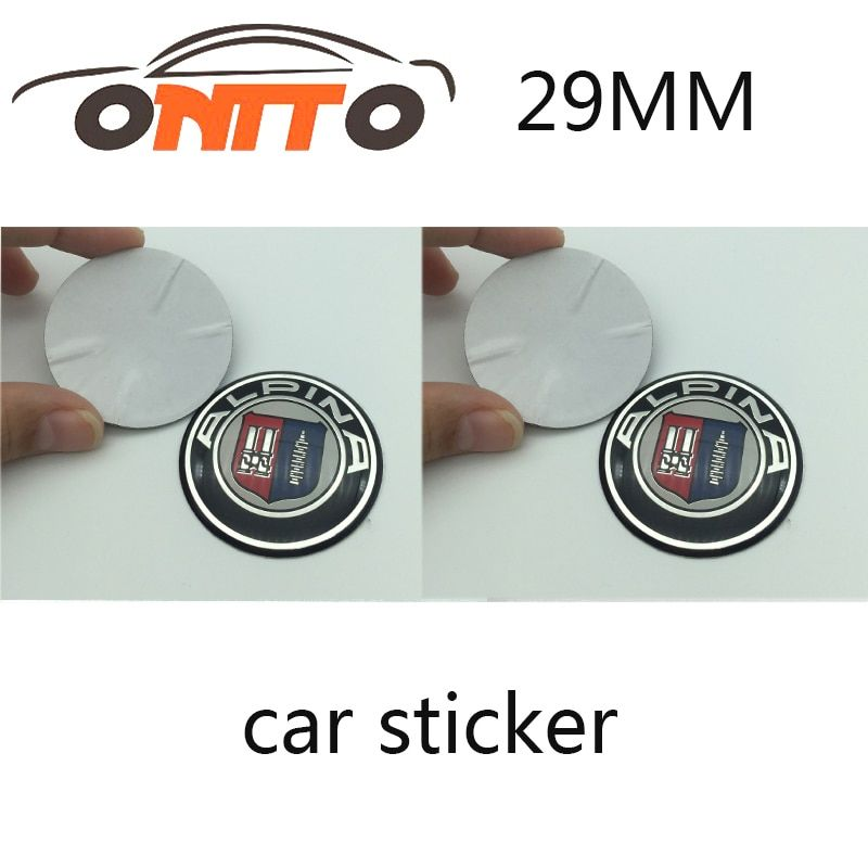 10PCS/SET hotsell car sticker decal 29mm 1.14inch auto multimedia sticker for ALPINA auto accessories high quingity