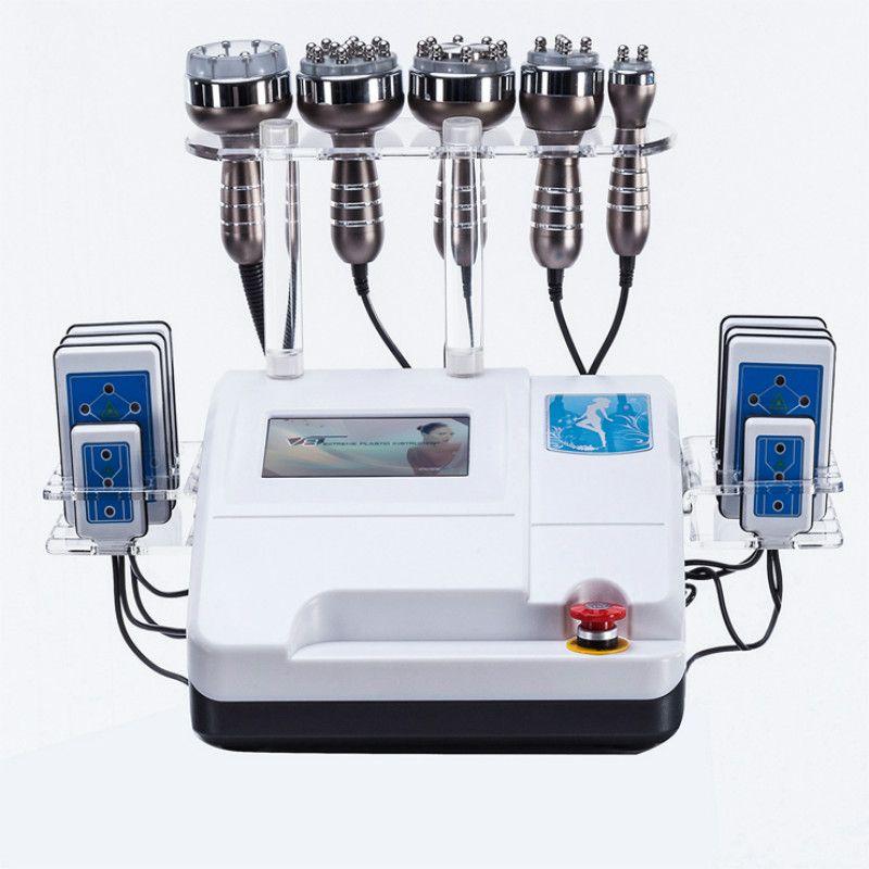 Fabrik preis 8 Pads Diode Lipo Laser + 40 K Kavitation maschine + Abnehmen Vakuum RF Cellulite Gewicht Verlust Maschine