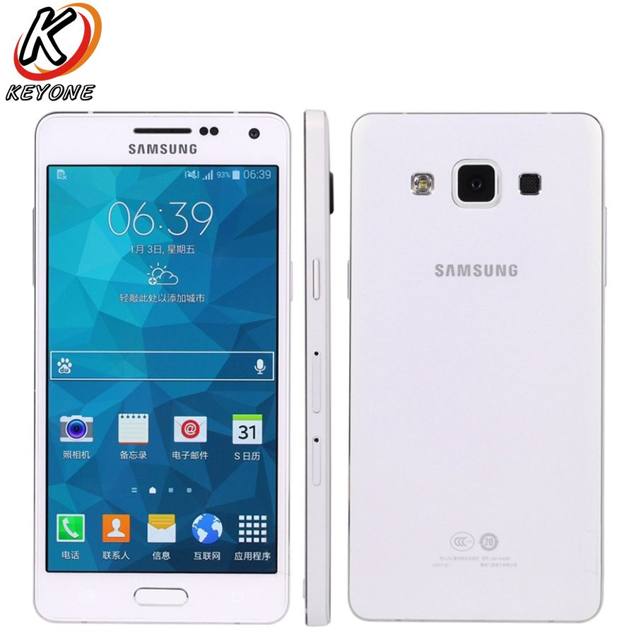 Original Samsung Galaxy A5 A5000 Mobile phone 5MP 13.0MP Double Camera 5.0 Inch 2GB RAM 16GB ROM Quad Core Dual SIM telephone