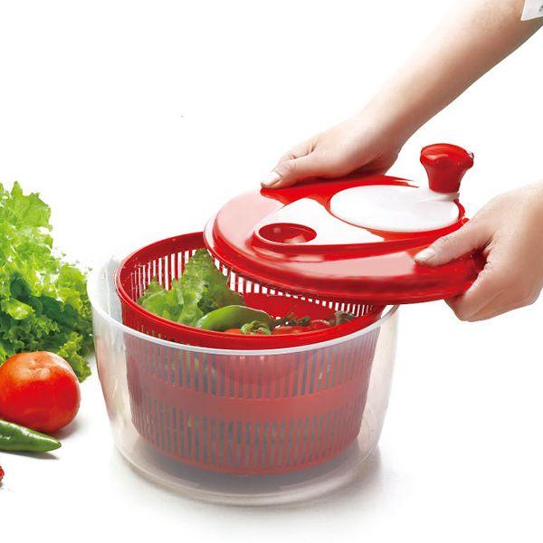 SDFC-Salad Dryer Vegetable Fruit Drain basket Dehydrator Shake Water Basket Multifunction Kitchen Mix Salad Tools