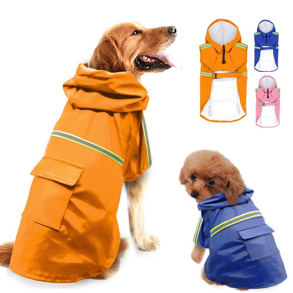 Imperméable pour chiens imperméable chien manteau veste réfléchissant chien imperméable vêtements pour petits moyens grands chiens Labrador S-5XL 3 couleurs