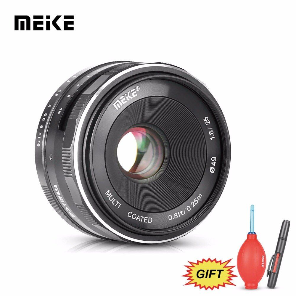 Meike MK 25mm f/1.8 Large Aperture Manual Focus Lens for Sony E-mount A6300 A6100 A6000 A5100 A5000 ,NEX6/5/3 Cameras +Free Gift