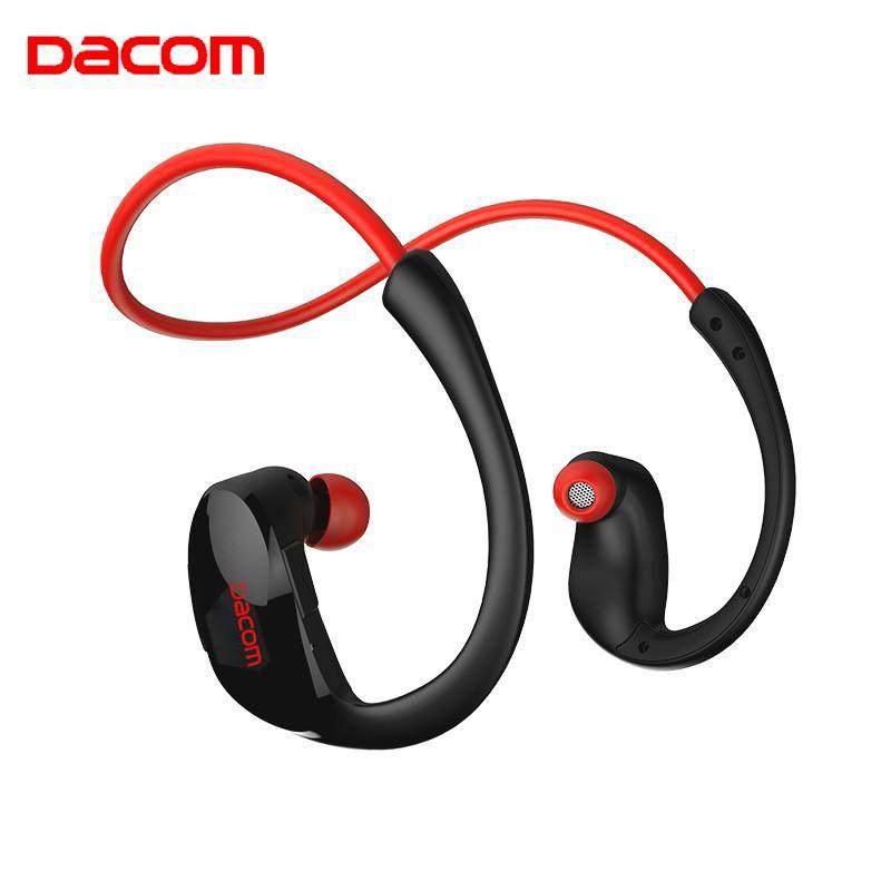 Casque sans fil d'athlète de Dacom Bluetooth casque d'écoute stéréo de sport avec le micro HD auriculares de NFC pour l'iphone Samsung