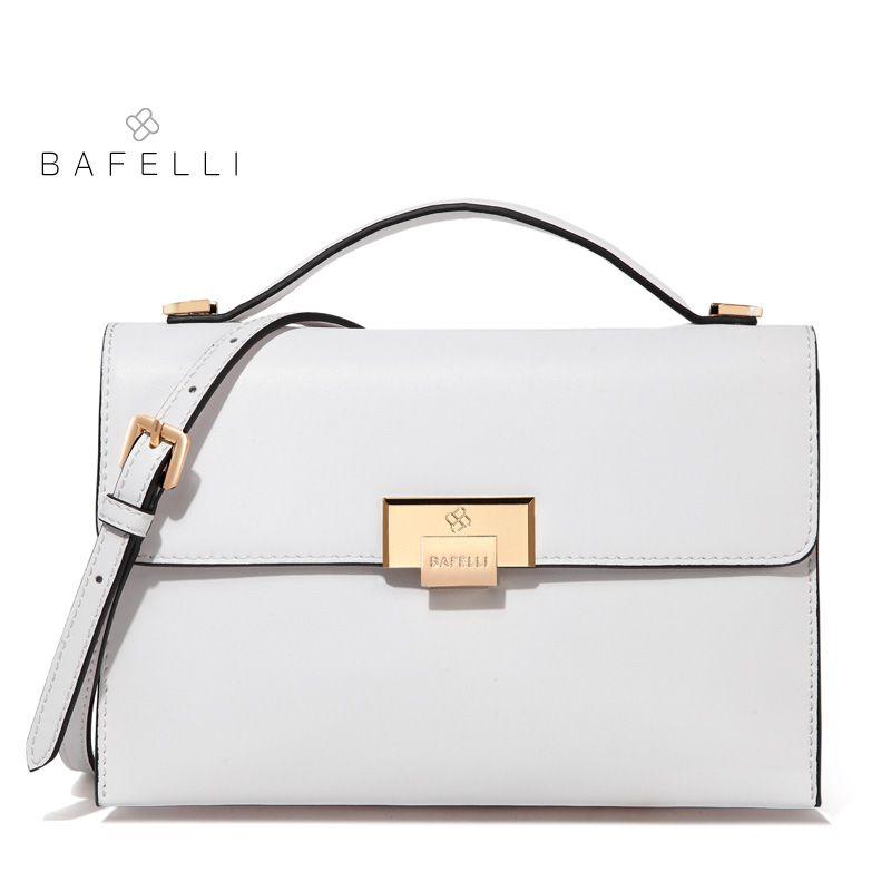 BAFELLI women shoulder bag split leather fresh color envelope white red bolsos mujer crossbody bags for women messenger bags