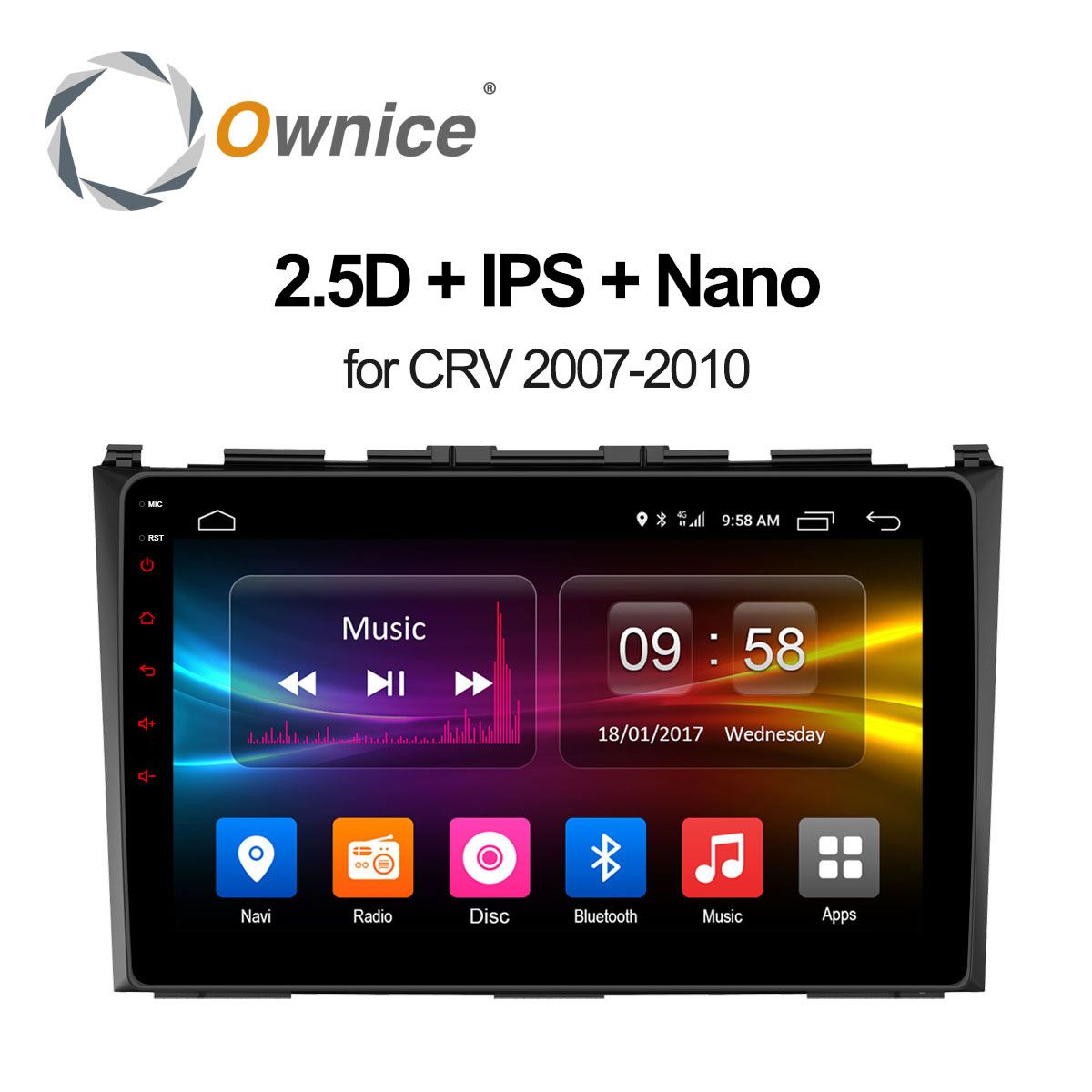 Ownice C500+ Android 6.0 Octa 8 Core Car DVD Player For Honda 2007 2008 2009 2010 CRV CR-V GPS Navigation Stereo Video 4G LTE