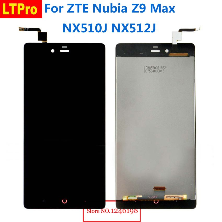 LTPro TOP Quality Full LCD Display Touch Screen Digitizer Assembly For ZTE Nubia Z9 Max NX510j Z9MAX Phone Parts Replacement