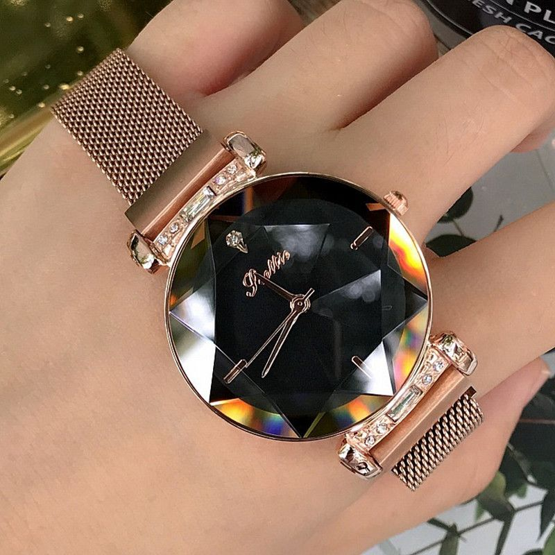 Luxus Dame Uhr für Frauen Magnet Schnalle Kleid Uhr Frauen 2018 Neue Edelstahl Quarzuhr Uhr Frauen horloges women