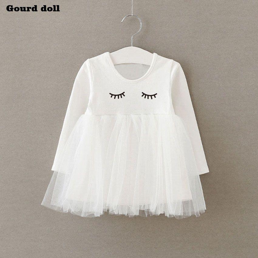 Bebé del verano Niñas corte vestido cejas infantil vestido de fiesta para la muchacha del niño cumpleaños bautismo ropa doble formal Vestidos