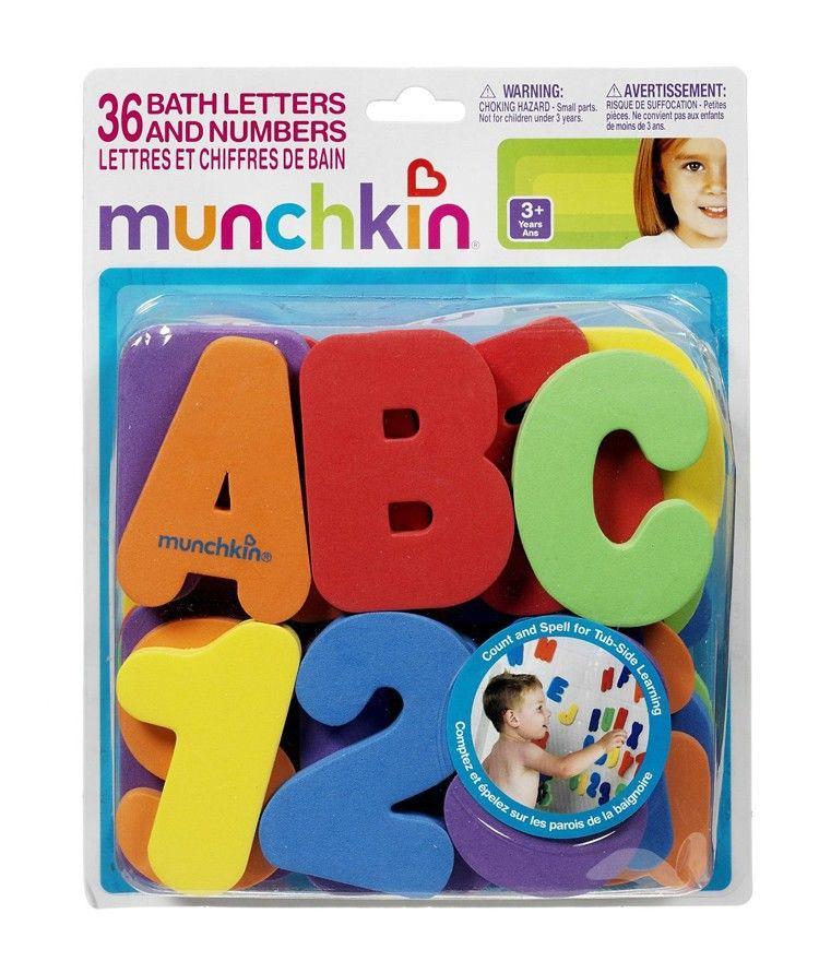 36 pièces EVA bébé bain jouets/lettres chiffres peuvent coller sur le mur sécurité environnement apprentissage éducation eau classique jouets