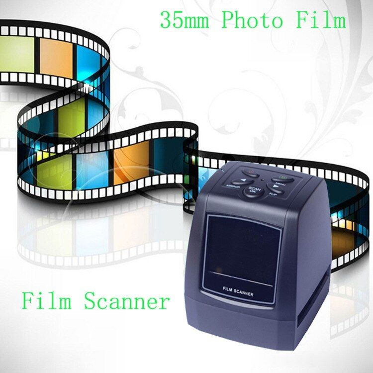5MP 10MP 35mm Portable SD carte Film scan Photo Scanners Film Négatif Diaporama Spectateur Scanner USB MSDC Film monochrome glisser FC718