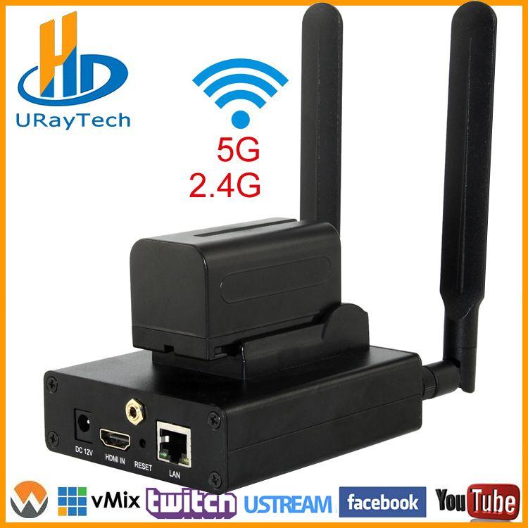 Beste HEVC H.265 H.264 AVC WIFI HDMI IPTV Streaming Encoder Für Live-Streaming Broadcast Über RTMP Unterstützung Wowza Youtube Facebook
