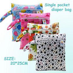 20*25 CM Pororo seul poche humide sac, bébé couches en tissu sac, étanche réutilisable nappy sacs, petite taille maman sec sac en gros