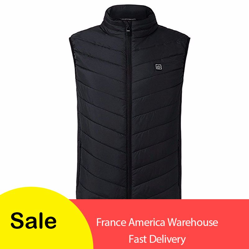 2019 New Men Women Electric Heated Vest Heating Waistcoat USB Heater Thermal Warm Carbon Fiber Feather Winter Jacket dropship
