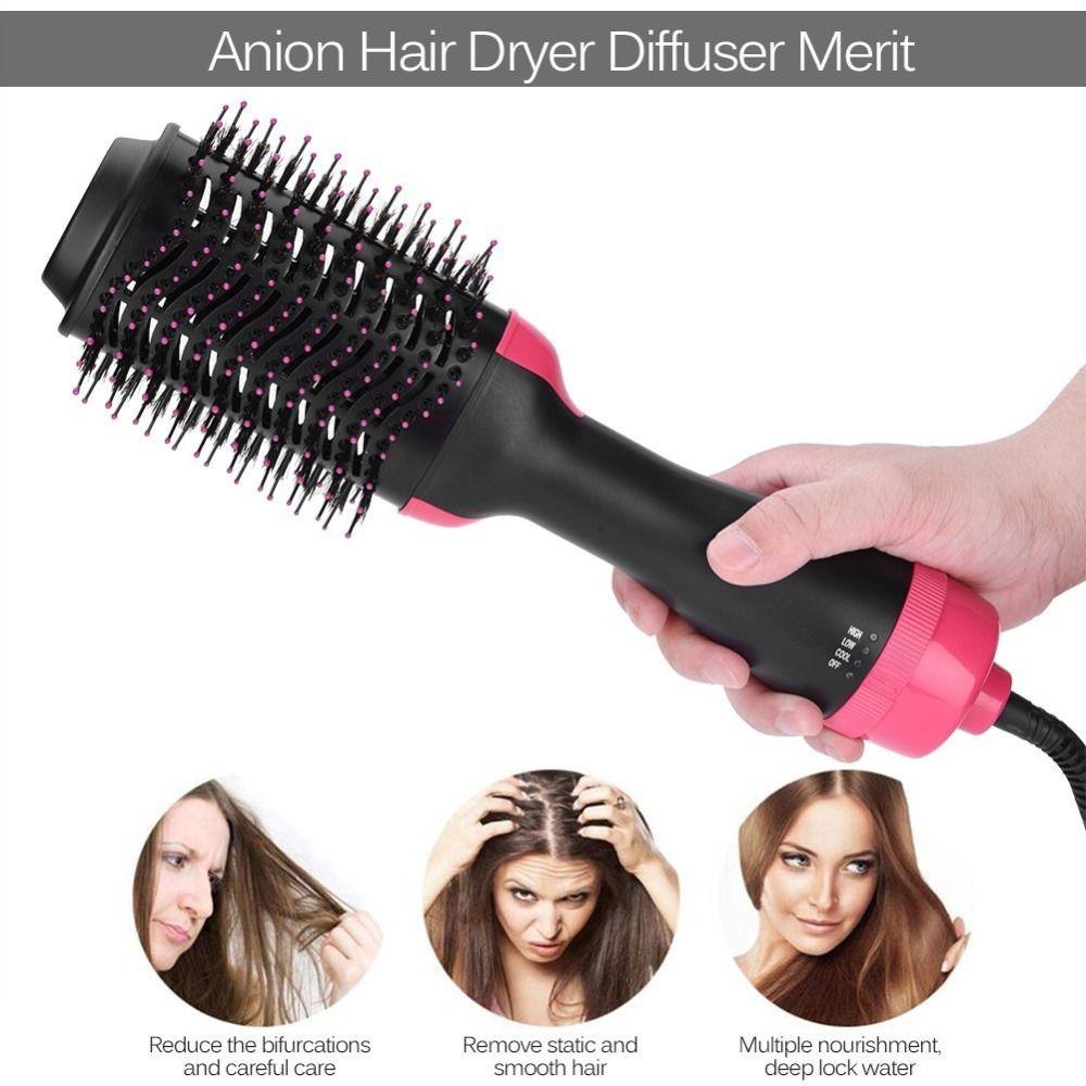 Steam Hair Dryer Brush Negative Lonic Hair Straightener brush Eliminate Frizzing Hair Curler curling iron Hair Blower dryer comb