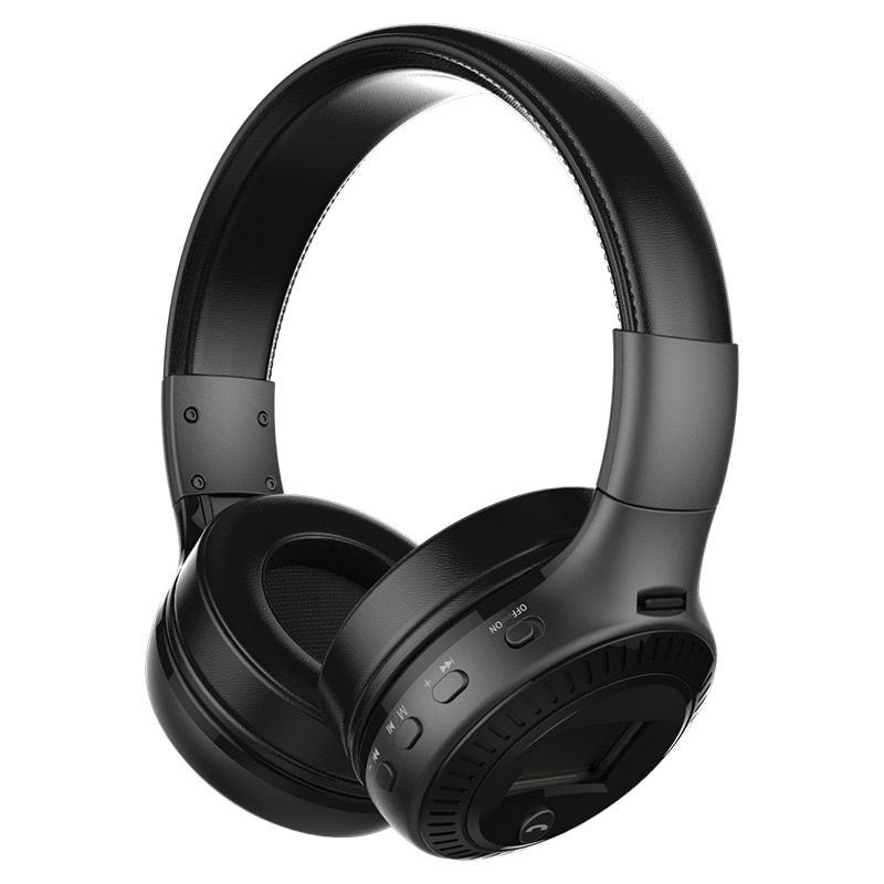 ZEALOT B19 HiFi Bass Stereo Bluetooth Headphone Wireless Headset LCD Display With Microphone FM Radio TF Card Slot for calls