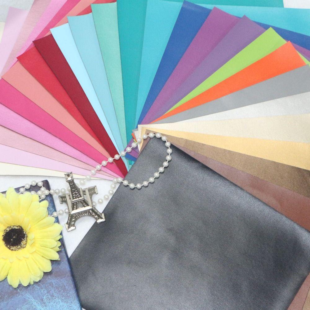 15 pièces-haute qualité 15 pièces bricolage PU cuir/cuir artificiel 20x22 cm par pcs (40 couleurs peuvent choisir)