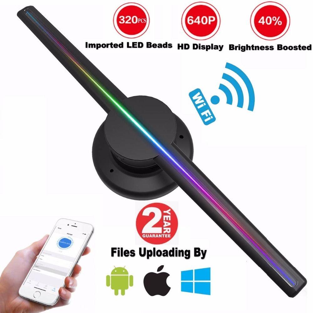 AUSIDA 42 CM WiFi Steuer 3D Hologramm Fan, höhere Auflösung 640 P HD 3D led fan werbung holographische display LOGO projektor