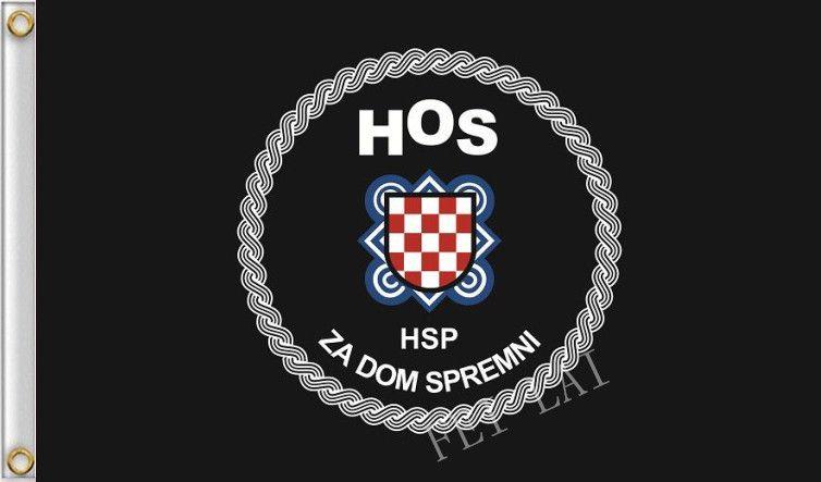 Kroatische Streitkräfte HOS Flagge 100D Polyester banner benutzerdefinierte flags