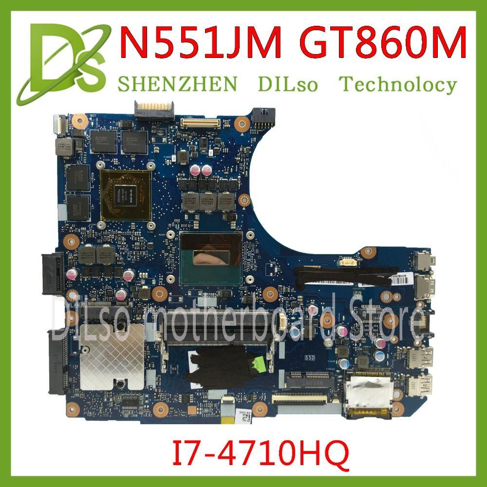 KEFU N551JM carte mère pour ASUS N551JM N551JK N551J carte mère d'ordinateur portable i7-4710HQ G551JM nouveau Test de GTX860m-2GB de carte mère