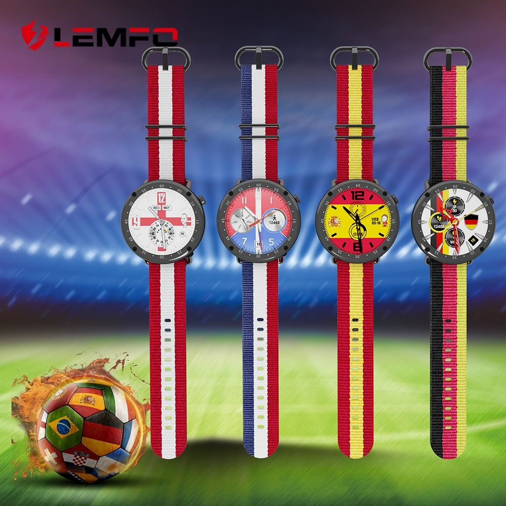 LEMFO Russia Football Cup 2018 Exclusive Custom Models Professional Sport Waterproof Smart Watch Men For IOS Android