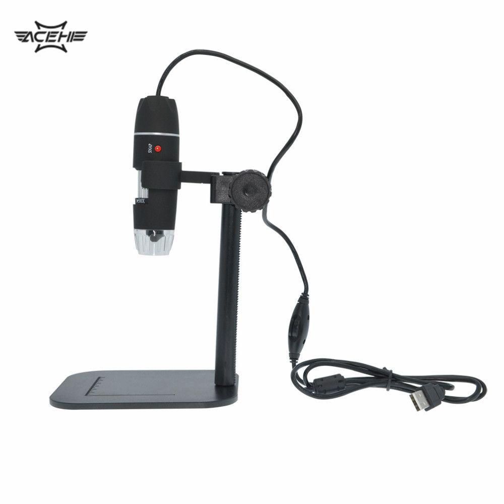 Microscop USBMicroscop Pratique Électronique 5MP USB 8 LED Appareil Photo Numérique Microscope Endoscope Loupe 50X ~ 500X Grossissement