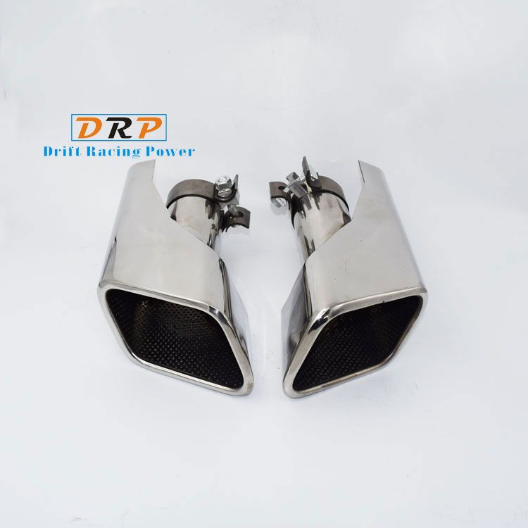 Hot!2pcs/set Modified Car Vehicle Exhaust Tail Muffler Tip Stainless Steel Pipe For Land Rover 10-13 Range Rover Sport Gasonline