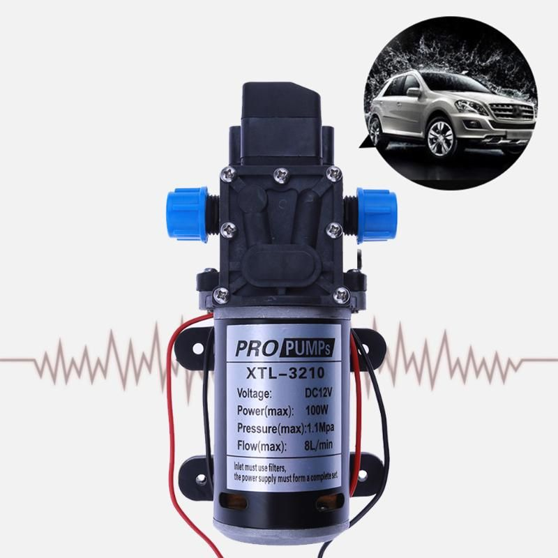 High Pressure Micro Water Pump Car Washing Electric Diaphragm Pump Automatic Switch 3210YB 12V 100W 8L/min Large Flow Pump