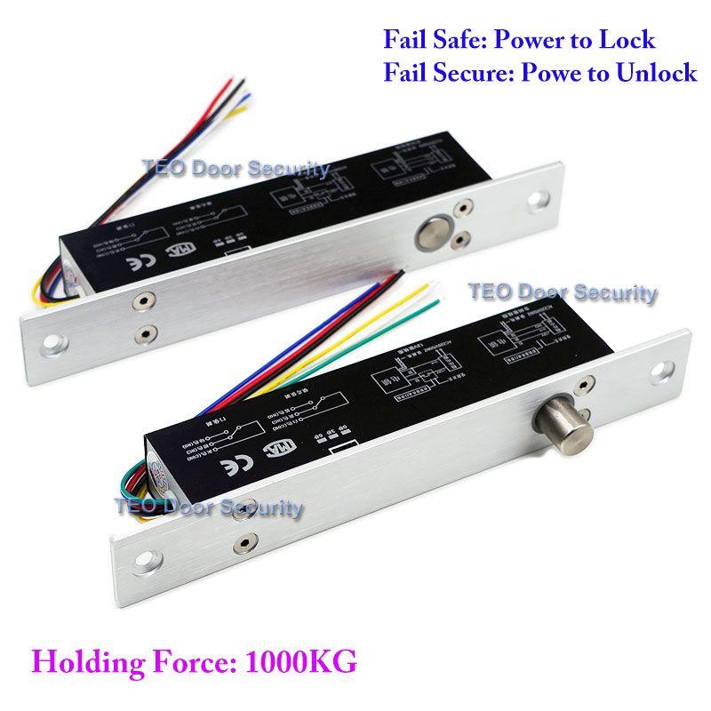 5 Cables de Salida Cerradura Eléctrica Cerradura Magnética con Temporizador DC12V Estándar, seguro de apagado para abrir La Puerta de Seguridad para Control de Acceso sistema