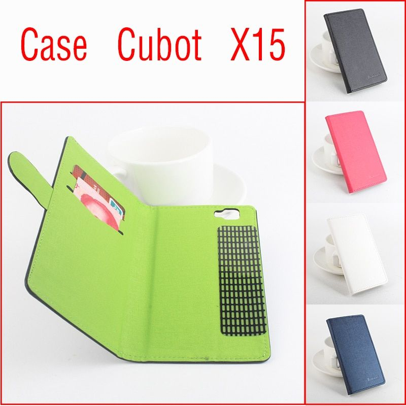 4 Color Fashion 2015 New phone case for cubot x15 Flip Business Style Case cubot x15 Cover Skin Shell Free Shipping