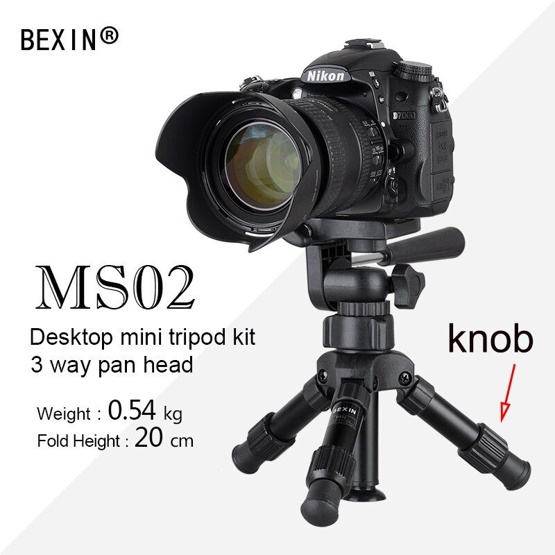 Portable Pliant Ultra Aluminium En Plastique Léger De Bureau Compact Macro Mini Trépied avec 3-façon Incliné pan Head Pour DSLR caméra
