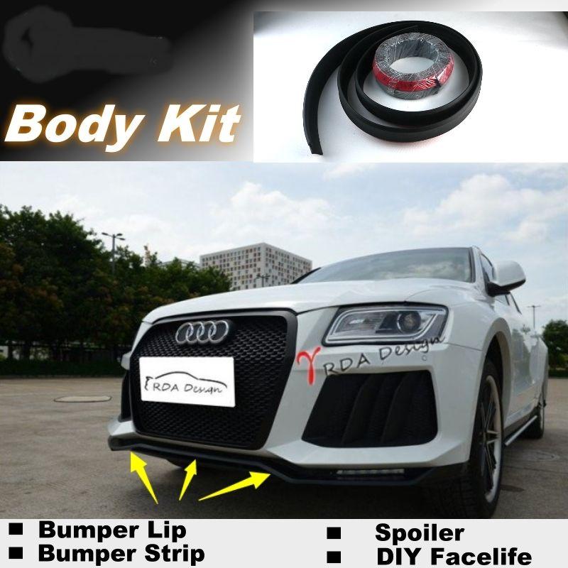 NOVOVISU For Audi Q5 2008~2015 Bumper Lip Lips / Shop Spoiler For Car Tuning / Body Kit + Strip