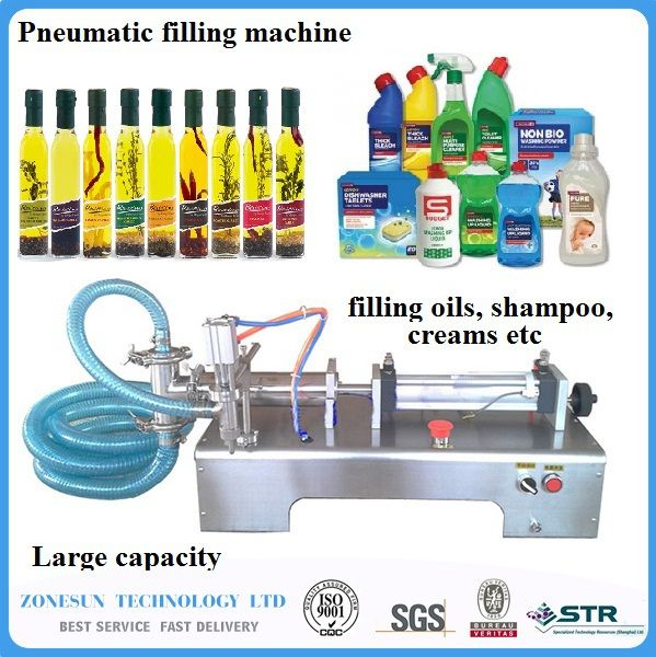ZONESUN 5-100ml Horizontal Pneumatic liquid Filling Machine, e liquid oil milk filling machine, drink filling machine