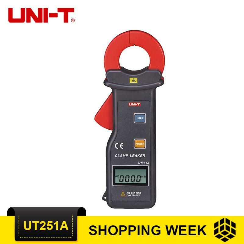 UNI-T UT251A High Sensitivity Leakage Current Clamp Meter UT251A Ammeter Multitester 10000 Counts RS-232