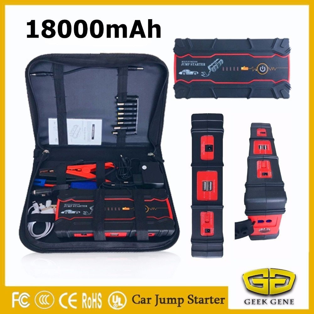 2018 Starting Device 18000mAh Petrol Diese Car Jump Starter Power Bank 12V 800A Car Charger For Car Battery Booster Buster LED