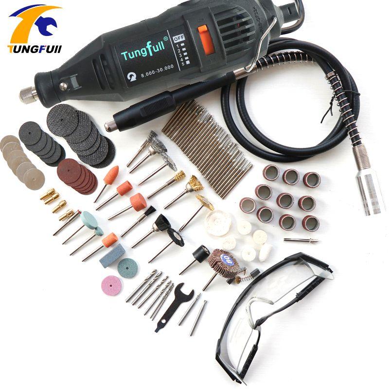 Tungfull dremel style engraver tool jewellery milling drilling machine rotary tool cutting machine with flex shaft mini drill