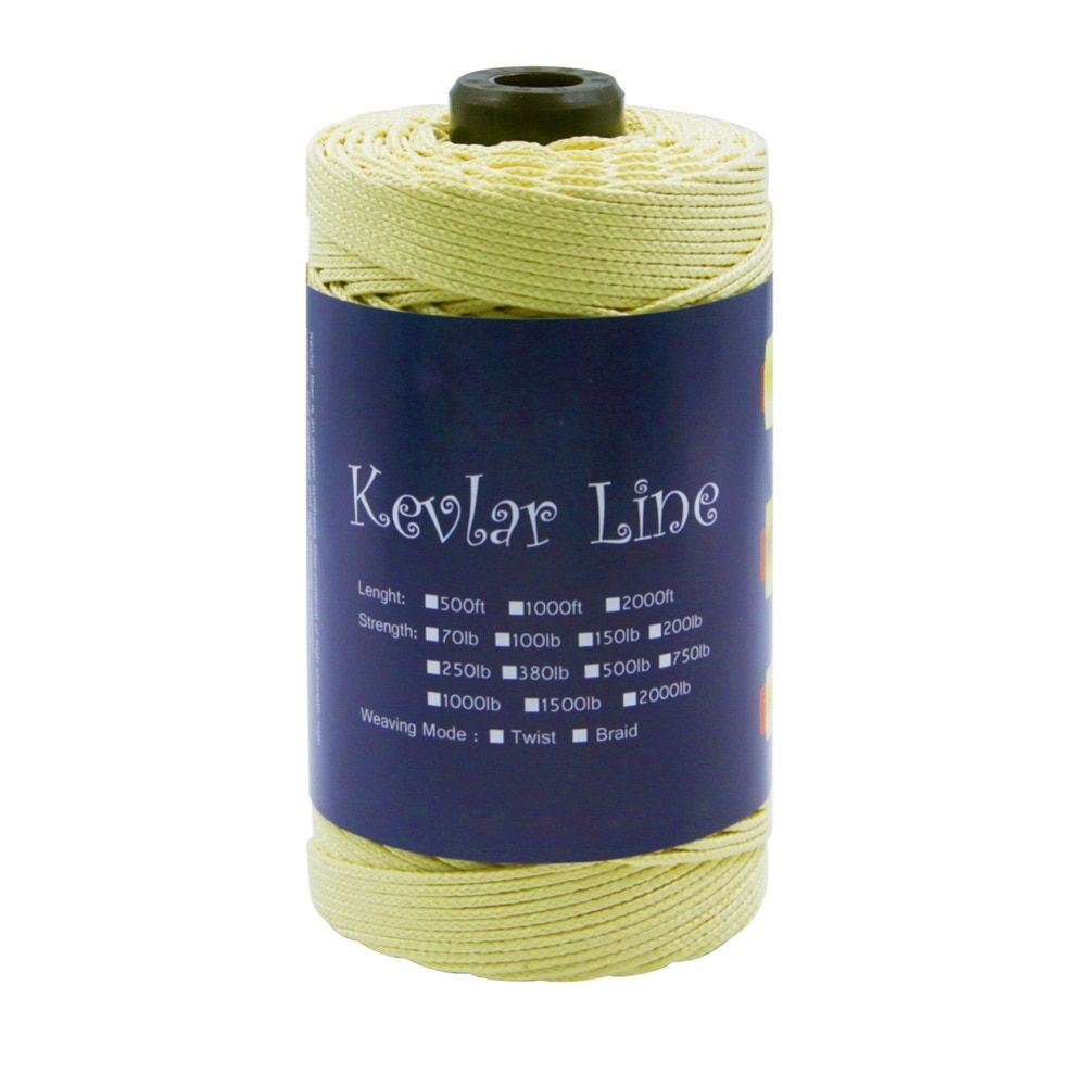Braided Kevlar Line Fishing Line for Assistant Hook 2.5mm 300ft 1000lb Strong Large Kite Line String Camping Hunting Cord