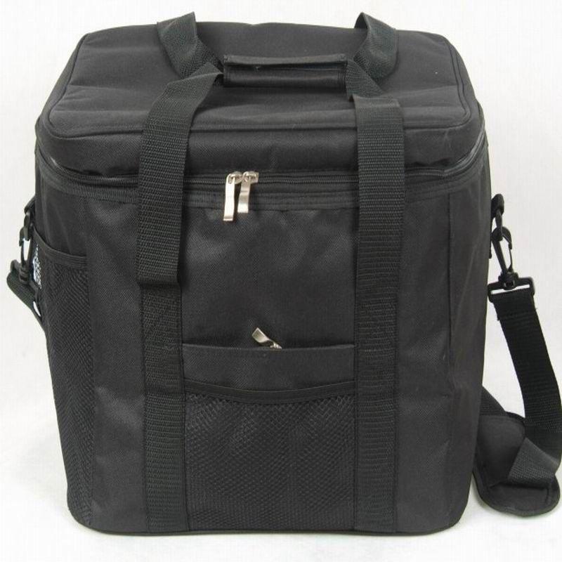 Tela impermeable Portable Almuerzo Térmica Bolso Más Fresco Negro Hombres de Picnic Bolsa de Almacenamiento de Gran Volumen 33L
