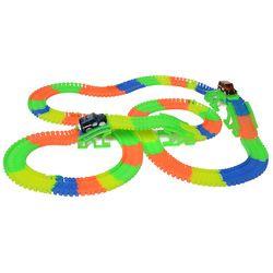 Track hot wheels railway road magic truck flexible toys for boys children railroad glowing tracks cars luminous racing diy track