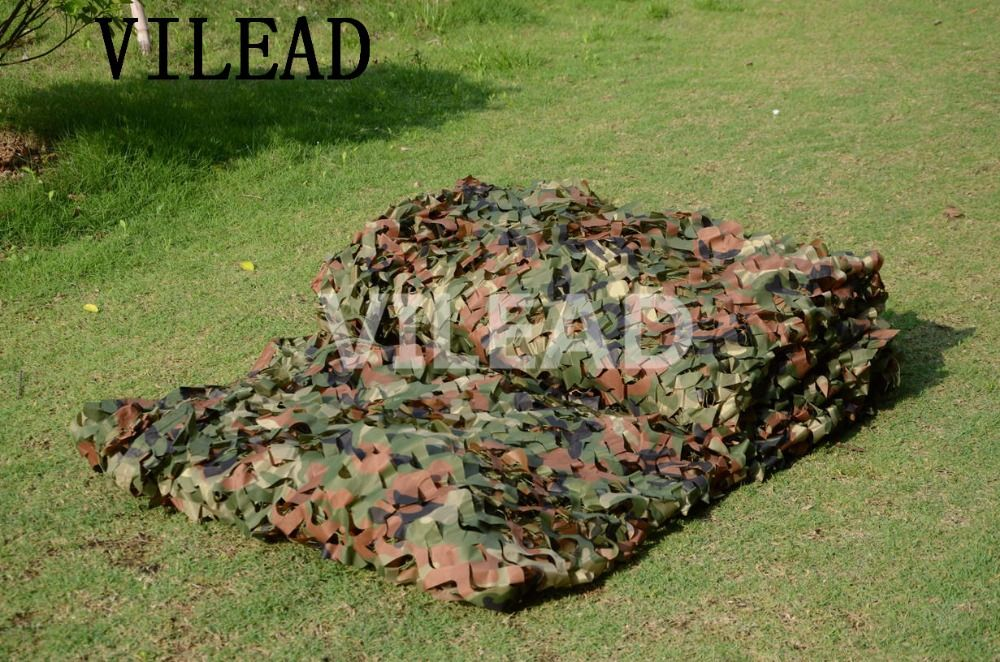 VILEAD 5M x 6M (16.5FT x 19.5FT) Woodland Digital Camouflage Net Military Army Camo Netting Sun Shelter for Hunting Camping Tent