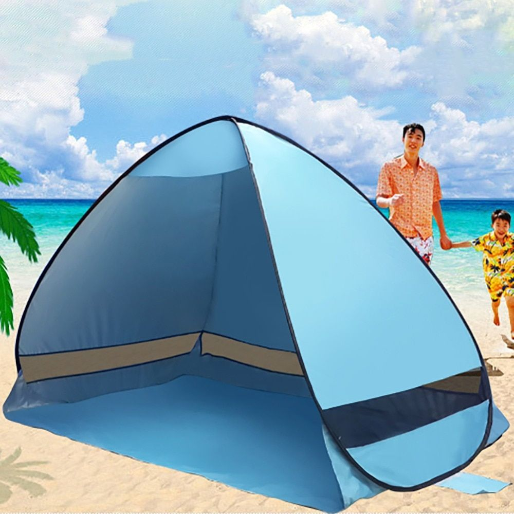 Newest Sun Shade Camping Tent hiking beach summer tent UV protection fully automatic sun shade Portable pop up beach tent