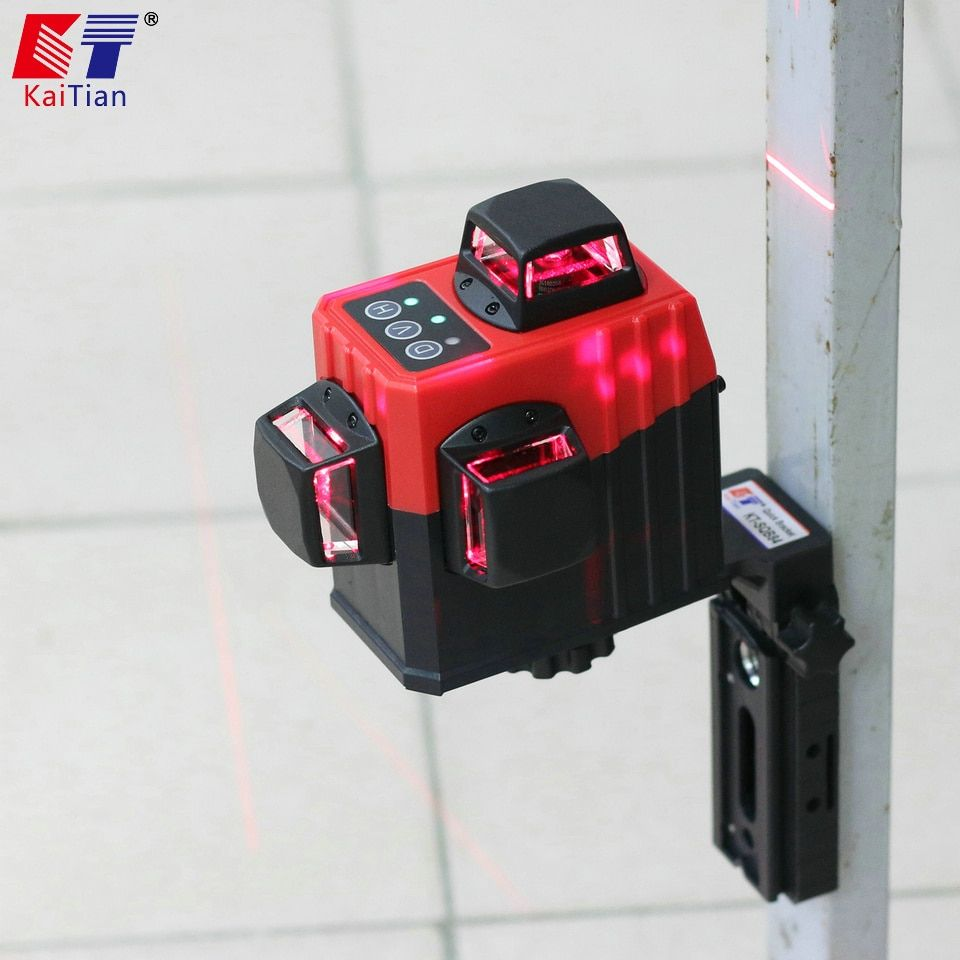 Kaitian Tripod for Laser Level Self Levelling 3D 12 Lines Red Horizontal Vertical Lasers Rotary Magnetic Bracket for Nivel Laser