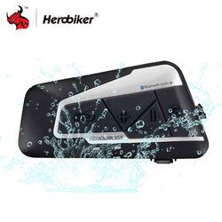HEROBIKER 1200 m Bluetooth Intercom casco de la motocicleta Interphone impermeable inalámbrico Bluetooth Moto auriculares Interphone