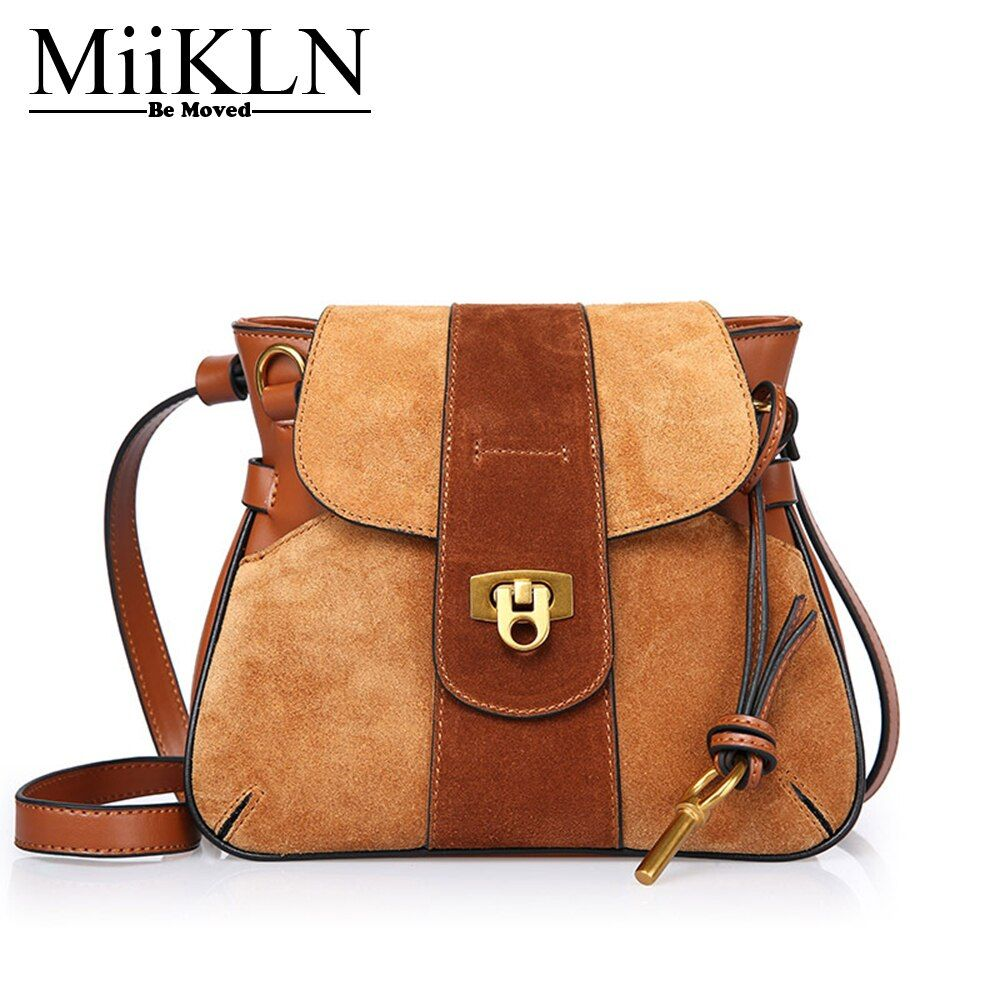 MiiKLN New Design Middle Size Messenger Bags Cow Leather Fashion Luck Women Shoulder Crossbody Bag Zipper Ladies Bags For Female