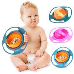 Bayi Makan Piring Lucu Bayi Gyro Bowl Universal 360 Memutar Spill-Proof Makanan Bayi Dinning Bowl