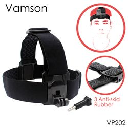Vamson for Gopro 6 Accessories Head Belt Strap Mount Adjustable For Gopro Hero 6 5 4 3+2 1 for SJCAM for Xiaomi Yi VP202