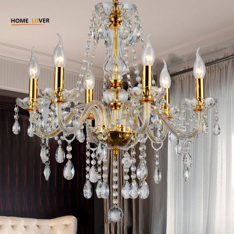 Modern crystal chandelier K9 crystal 110~240V lustres de cristal chandelier for living room Kitchen light Lamp lustre para sala