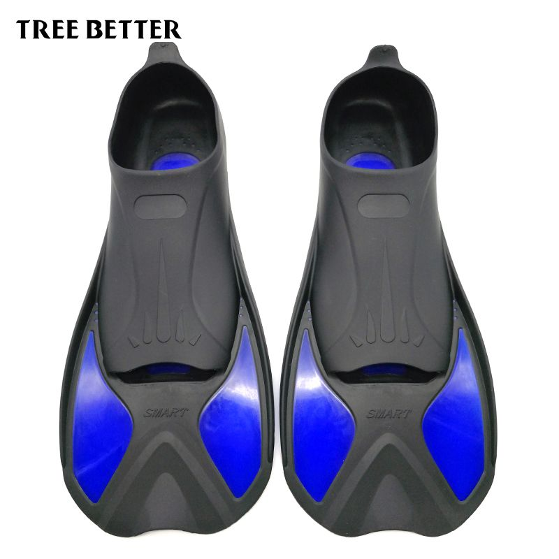 TREE BETTER Swimming Fins Adult Snorkeling Foot Flipper KIDS <font><b>Diving</b></font> Fins Beginner Swimming Equipment Portable short Frog shoes