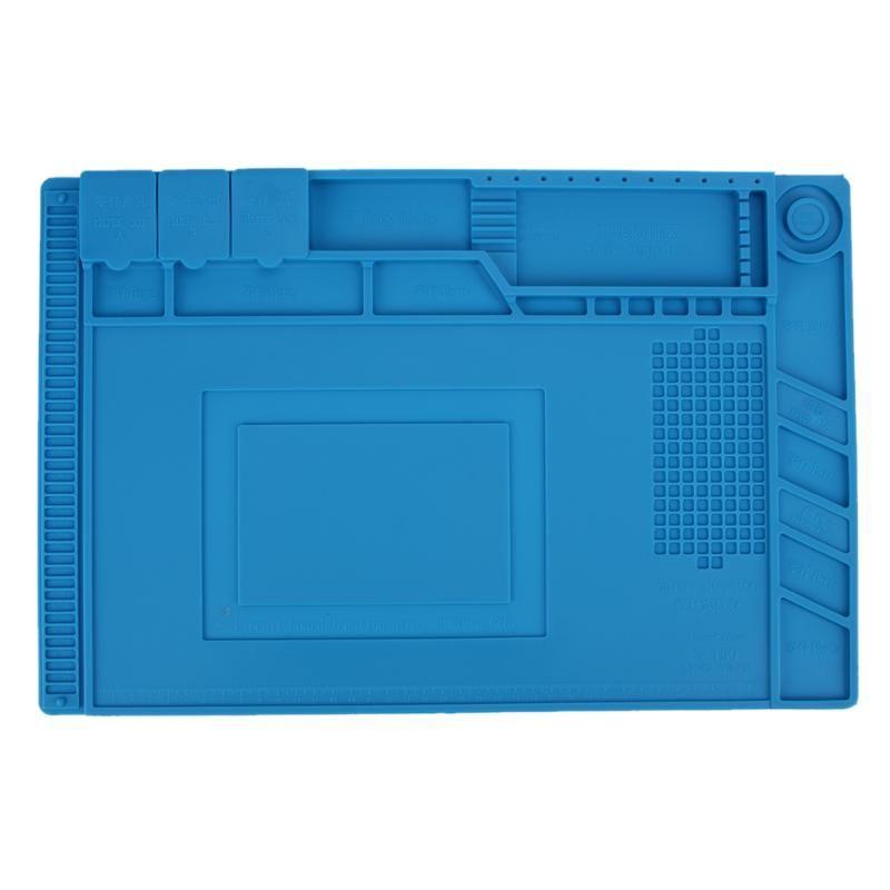 45*30 cm Anti Statische Wärme Isolierung Silikon Pad Wartung Plattform Schreibtisch Matte Magnetische Abschnitt Isolierung Pad Reparatur Werkzeuge