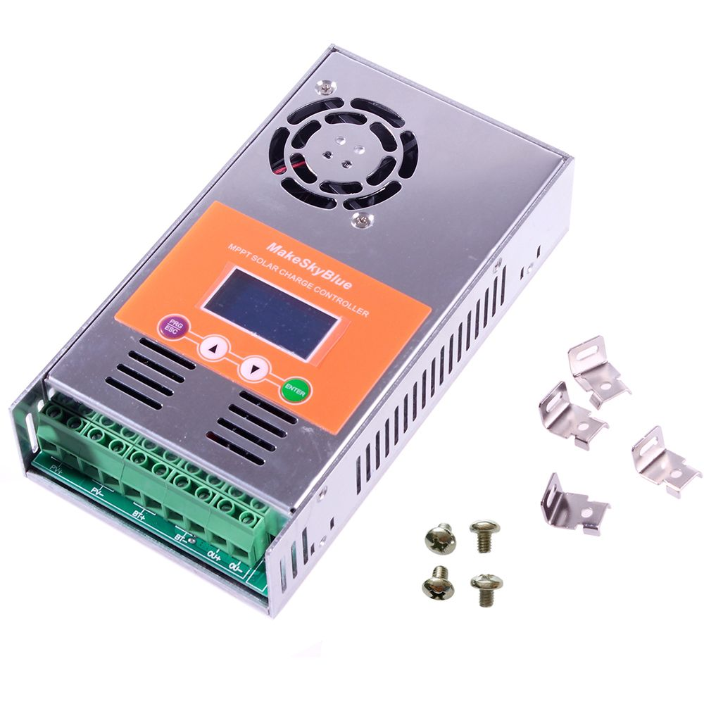 5A 10A 15A 20A 30A 40A 50A 60A MPPT Solar Charge Controller f 12V 24V 36V 48V Acid Lithium Not PWM Charger Regulator MakeSkyBlue